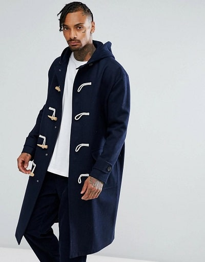 DUFFLE COAT MANTEAU LONG HOMME